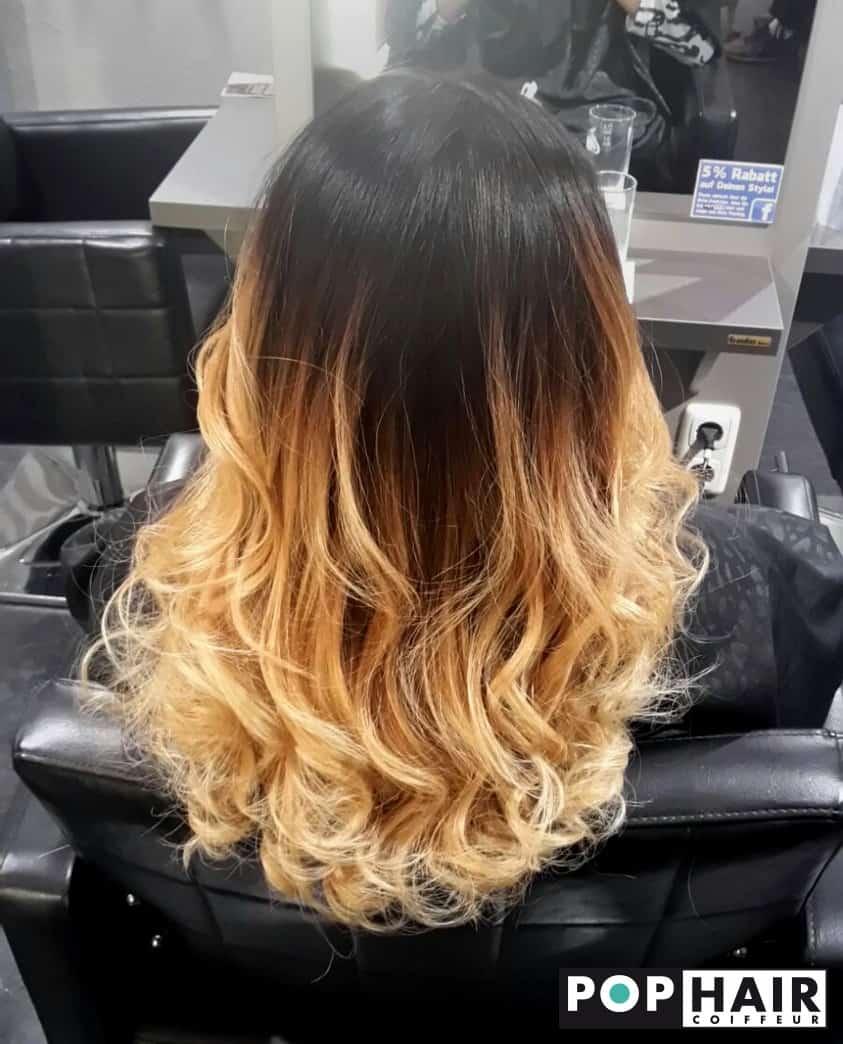 schwarz blondes balayage pophair