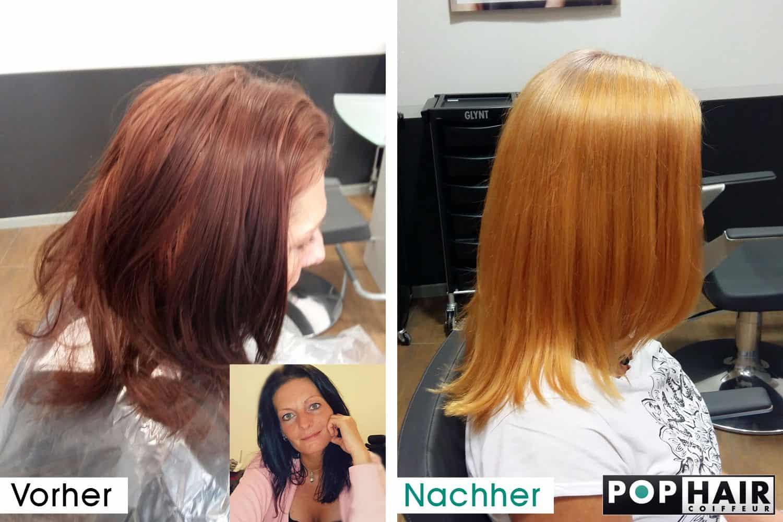 Color Off Von Schwarz Zu Kupfer Pophair