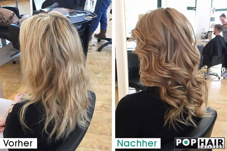 Balayage Blond vorher-nachher - POPHAIR
