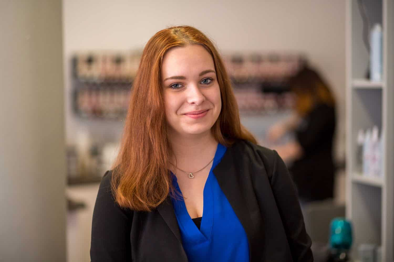 Friseur-Azubi Christine Schierenberg