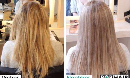 Balayage-Korrektur mit blondem Pastell