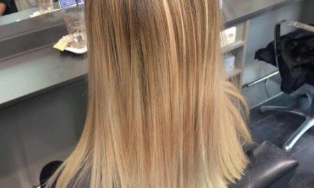 Balayage-Blond plus Glossing