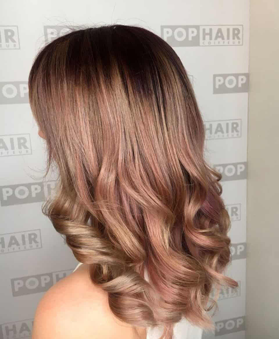 Balayage-in-Rosablond