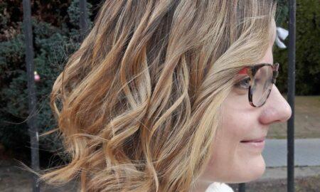 Klassisches Balayage im konkaven Haarschnitt