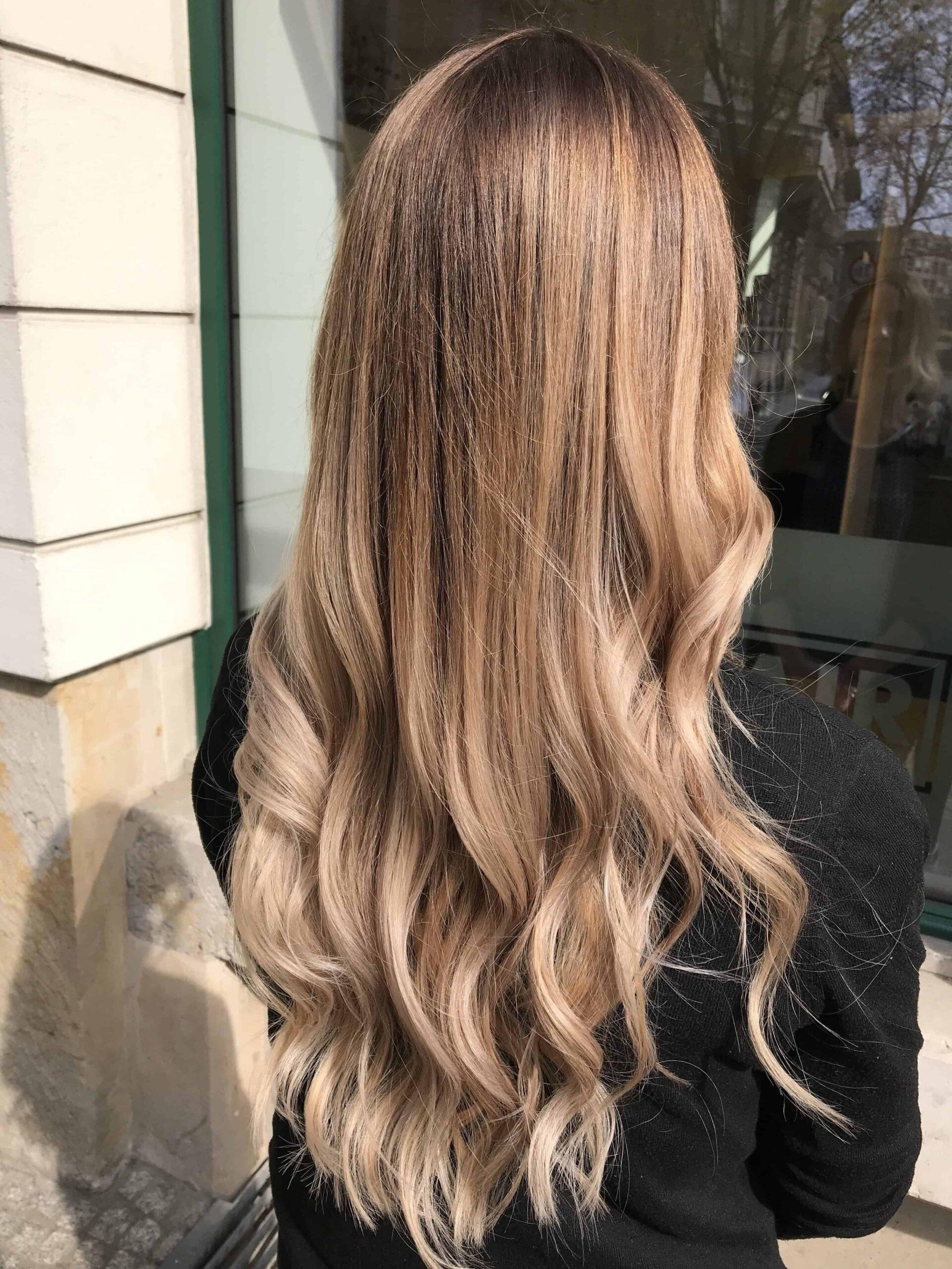 foliensträhnen dunkle haare