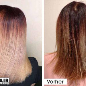 Haare glätten ohne Glätteisen