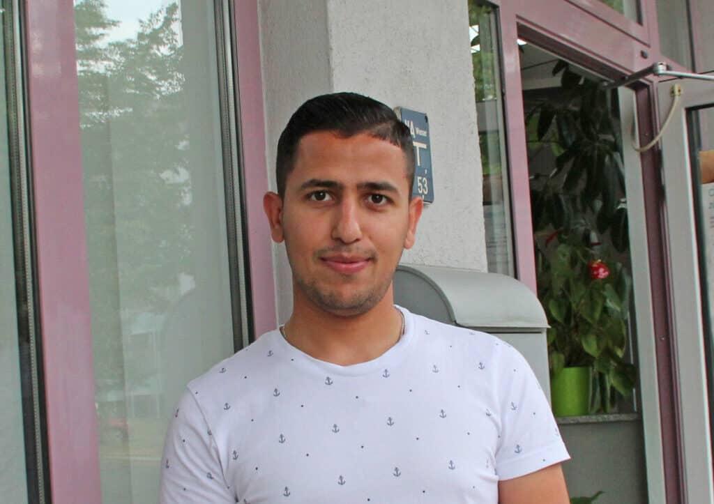 Friseur-Azubi Mohammad Galabi aus Magdeburg
