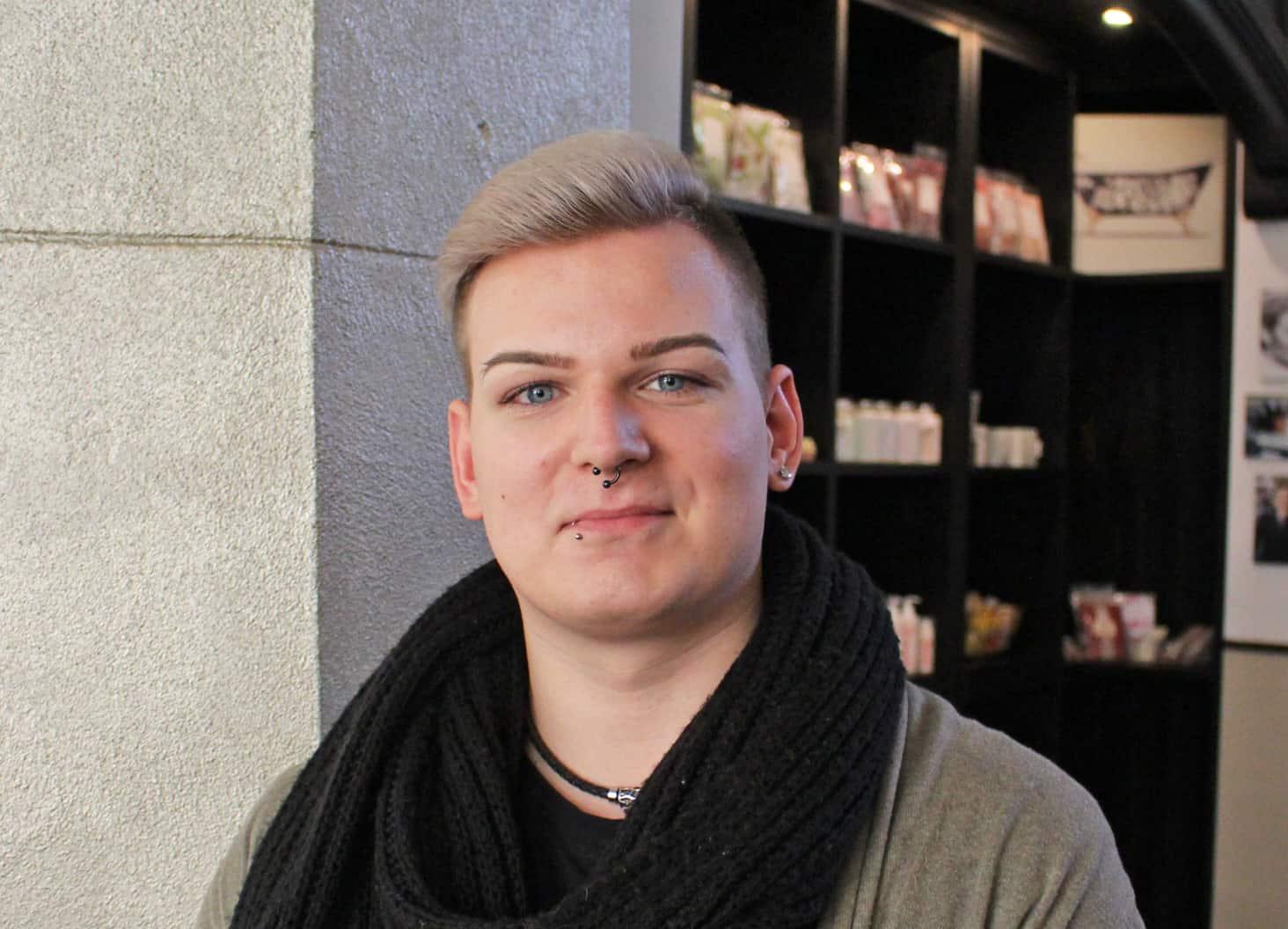 Friseur-Azubi Andrew Wallborn aus Leipzig